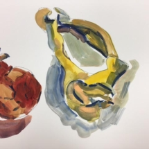 0Painting Shell and Pomegranate