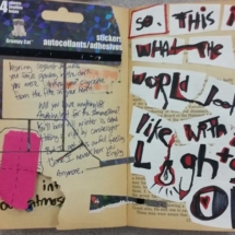 0Students work Altered Book 2