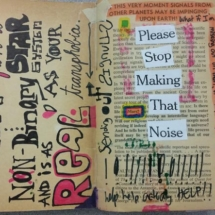 0Students work BCC Altered book