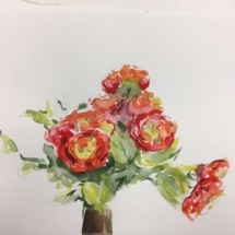 0Students work Watercolor